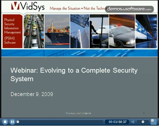 Sistema Integral de Seguridad en empresas. El caso de Apple. Webinar VidSys.