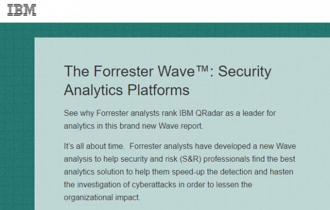 The Forrester Wave: Security Analytics Platforms, Q1 2017