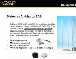 Sistemas antihurto para tiendas de GSP
