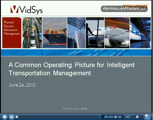 Smart Mobility Transportation Management y PSIM para mejorar la seguridad en metro, tren, barcos y carreteras. Webinar Vidsys.