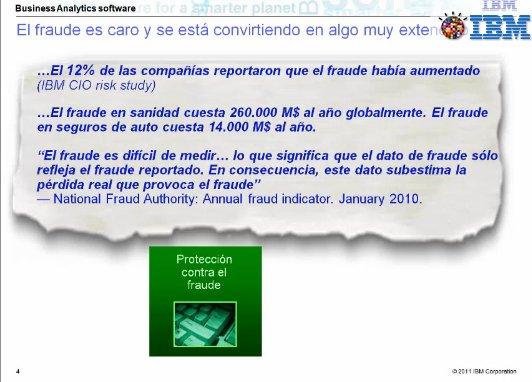 Prevención del fraude con IBM Business Analytics. Webinar de 1 hora en castellano.