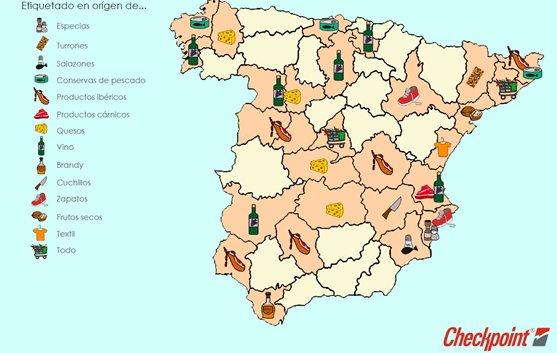 Primer Mapa del Etiquetado en Origen en España