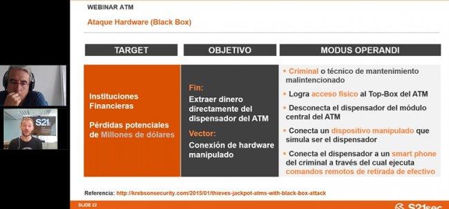 CiberSeguridad en redes de cajeros / ATM. Por s21sec.com