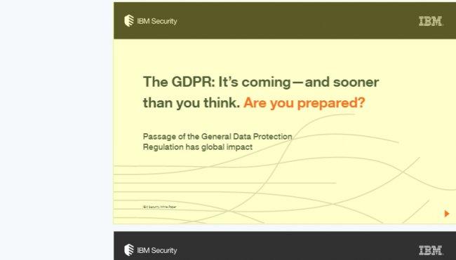 Cómo cumplir con la General Data Protection según IBM [Whitepaper en inglés]